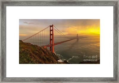 Golden Gate Sunset Framed Print by John Roberts