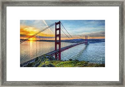 Golden Gate Framed Print by Veikko Suikkanen