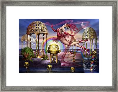 Golden Gazebos Framed Print by Ciro Marchetti