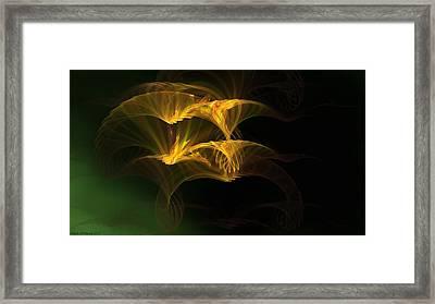 Framed Print featuring the digital art Golden Geisha by Linda Whiteside