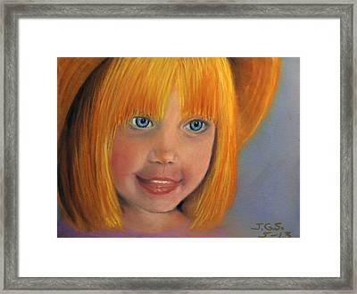 Framed Print featuring the painting Golden Girl by Janet Greer Sammons