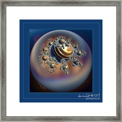 Golden Globe Framed Print by Leona Arsenault