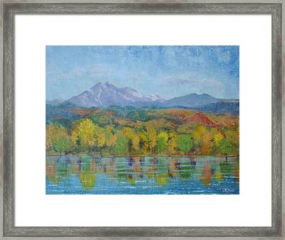 Golden Glory At Golden Ponds Framed Print