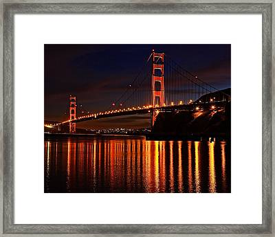 Framed Print featuring the photograph Golden Glory by Dave Files