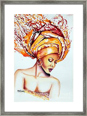 Golden Goddess Framed Print by Maria Barry