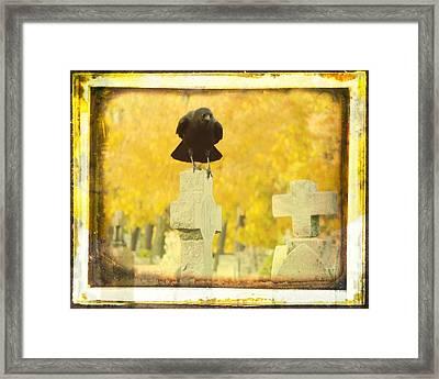Golden Gothic Framed Print