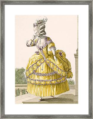 Golden Gown, Engraved By Dupin, Plate Framed Print by Pierre Thomas Le Clerc
