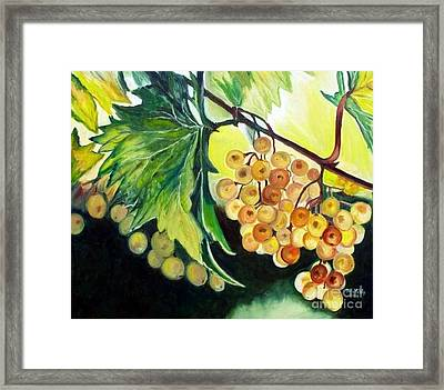 Framed Print featuring the painting Golden Grapes by Julie Brugh Riffey