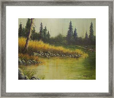 Golden Grass   #038 Framed Print by Frederick  Skidmore