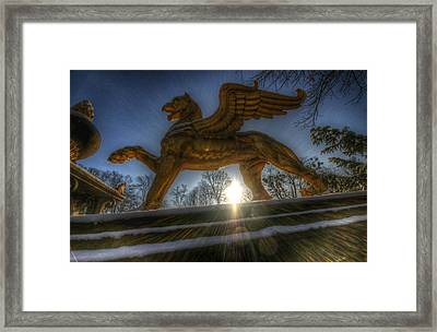 Golden Griffin Framed Print by Nathan Wright