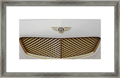 Golden Grill Bentley Framed Print by Maj Seda