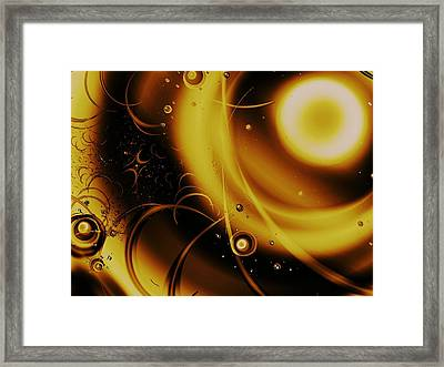 Golden Halo Framed Print by Anastasiya Malakhova