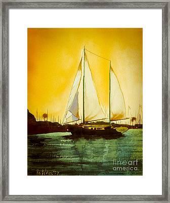 Golden Harbor  Framed Print by Kip DeVore