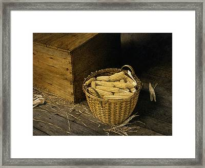 Golden Harvest Framed Print by Tom Wooldridge