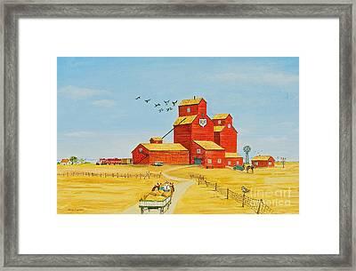 Golden Harvest Framed Print by Virginia Ann Hemingson