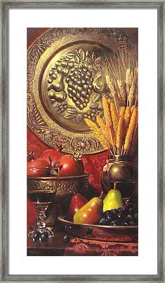 Golden Harvest With Red Wine Framed Print by Takayuki Harada