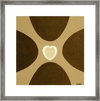 Golden Heart 3 Framed Print