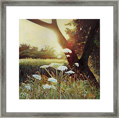 Golden Hedgerow Framed Print by Helen White