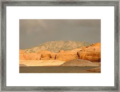 Golden Hour At Lake Powell Framed Print by Julie Niemela