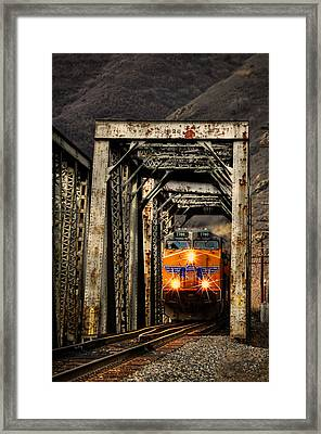 Framed Print featuring the photograph Golden Hour Crossing by Ken Smith