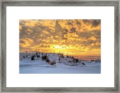 Golden Hour In Destin Framed Print