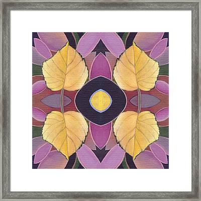 Golden I - The Joy Of Design X X I V Arrangement Framed Print by Helena Tiainen