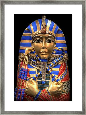 Golden Inner Sarcophagus Of A Pharaoh Framed Print by Daniel Hagerman