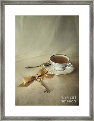 Golden Key Framed Print by Jaroslaw Blaminsky