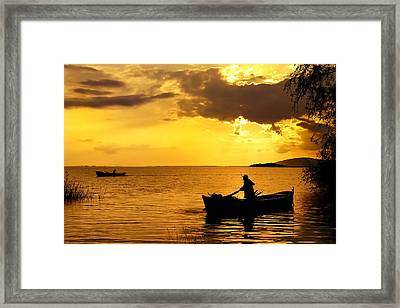 Golden Lake - 3 Framed Print by Okan YILMAZ