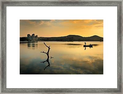Golden Lake - 4 Framed Print by Okan YILMAZ