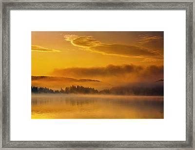 Golden Lake Framed Print by Evgeni Dinev