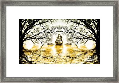 Golden Lake Of Stillness  Framed Print by Tim Gainey