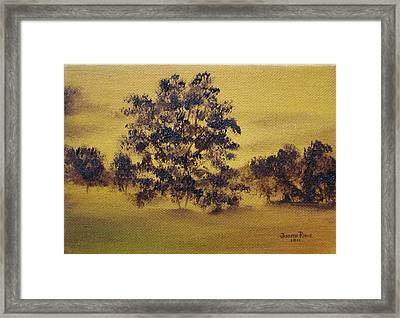 Golden Landscape Framed Print