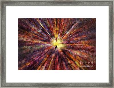 Golden Leave Framed Print