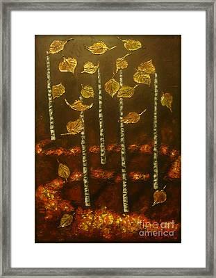 Golden Leaves 2 Framed Print