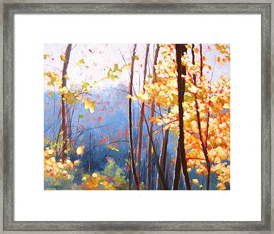 Golden Leaves Framed Print by Carlynne Hershberger