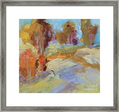 Golden Leaves Framed Print by Virginia Dauth