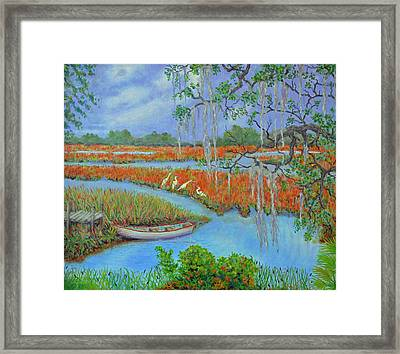 Golden Marsh 2 Framed Print
