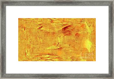 Golden Framed Print by Max Kutz