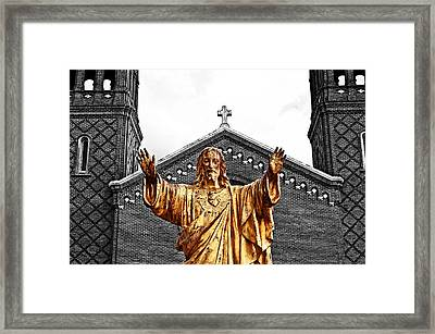 Golden Messiah Framed Print by Andy Crawford