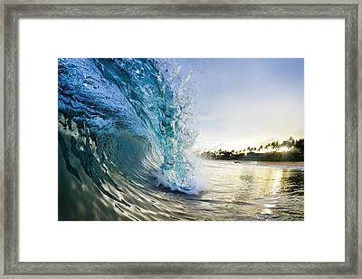 Golden Mile Framed Print by Sean Davey
