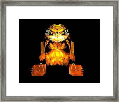 Framed Print featuring the digital art Golden Monkey by R Thomas Brass