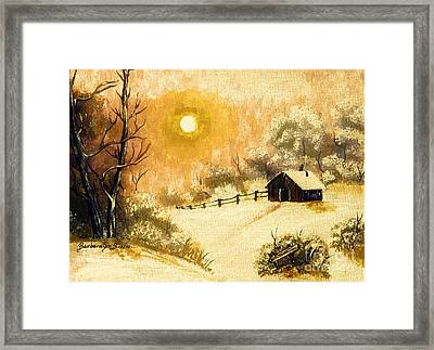 Golden Morning Framed Print by Barbara Griffin
