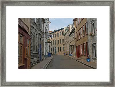 Golden Morning Light Painting Rue Couillard  Framed Print by Juergen Roth