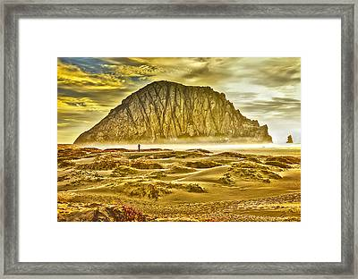 Golden Morro Bay Framed Print