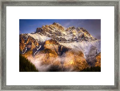 Golden Mountain Framed Print by Stuart Deacon