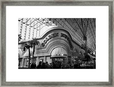 golden nugget casino hotel in freemont street Las Vegas Nevada USA Framed Print