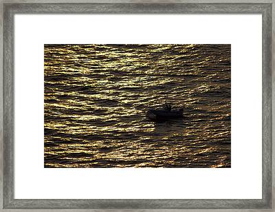 Framed Print featuring the photograph Golden Ocean by Miroslava Jurcik