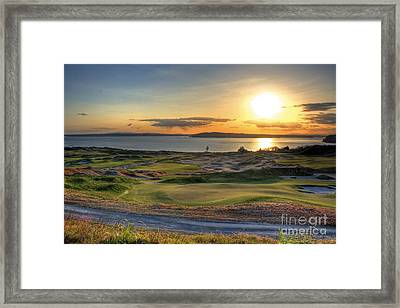 Framed Print featuring the photograph Golden Orb - Chambers Bay Golf Course by Chris Anderson