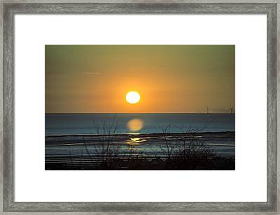Golden Orb Framed Print